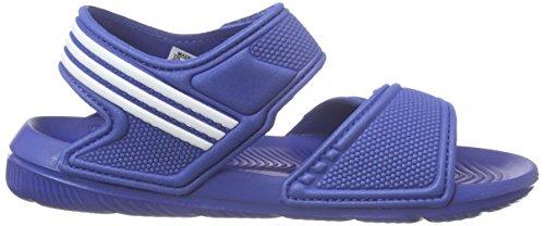 adidas Akwah 9 C, Chaussures de Plage et Piscine Mixte Enfant Bleu - Blau (Eqt Blue S16/Ftwr White/Ftwr White)