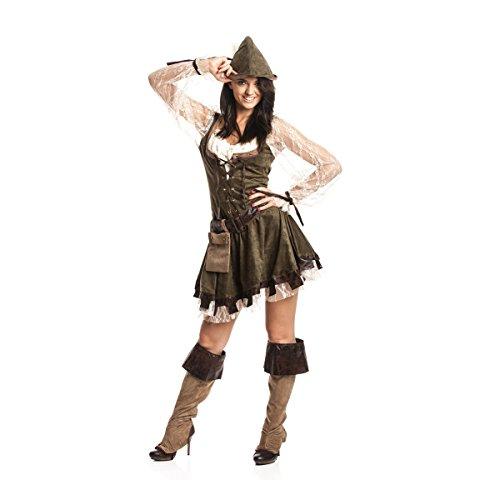 Kostümplanet® Robin Hood Kostüm Damen sexy komplettes Faschingskostüm Damen-Kostüm Karneval kleine und große Größen - Eine Große Kostüm
