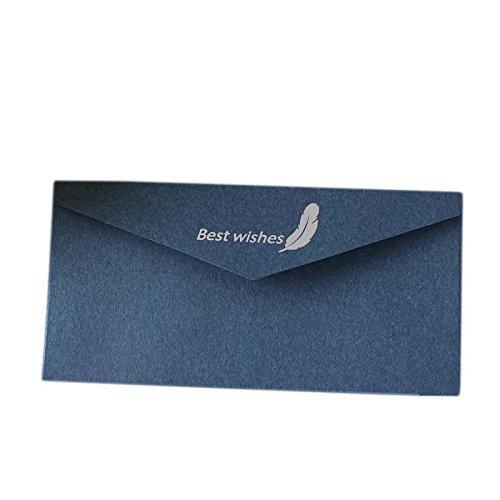 amping Druck Papier Umschläge Hochzeit Einladungen Karten für Verlobung Geburtstag Baby Dusche 20Stück blau ()