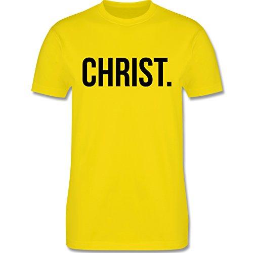 Statement Glaube Religion - Christ Jesus Christus schwarz - Herren T-Shirt Lemon Gelb
