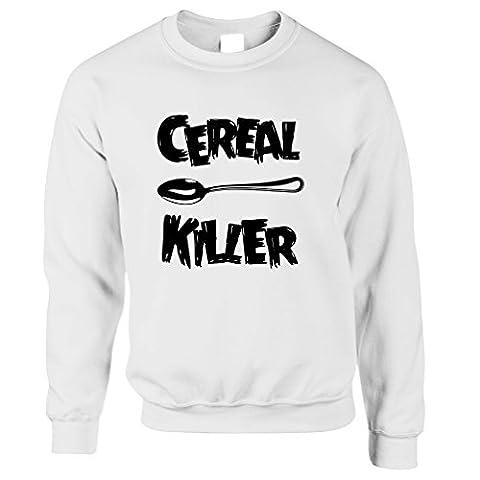 Cereal Killer Löffel Lustige Frühstück Speisen, Humor, Slogan Chef Unisex-Pullover