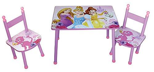 FUN HOUSE Disney Princesses Ensemble Une Table avec Deux CHAISES pour Enfant MDF, Rose, 60x40x44 cm