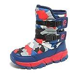 Kinder Schuh Jungen Winterschuhe Stiefel Stiefeletten Wanderschuhe Camouflage Rutschfeste Gummischuhe Schuhe für Unisex-Kinder Outdoor Red 25 EU