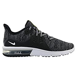 Nike Men's Air Max Sequent 3 Running Shoes, Multicolor (Blackwhite-dark Grey 011), 8.5 Uk