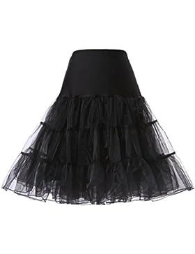 Cancan Enaguas falda vestido midi Cancan 50s Retro Rockabilly Enaguas Miriñaques Faldas vestido retro debajo de...