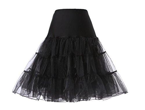 Babydress® Petticoat Unterrock 50er Jahre Kleid Vintage Retro Petticoat Reifrock Unterrock Petticoat krinoline kleid 50er hoopless in Mehreren Farben Röcke Vintage Swing Oktoberfest Kleid