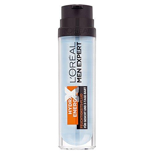 L'Oreal Men Expert Hydra Energy X Feuchtigkeits-Fluid, für Gesicht und 3-Tage-Bart, 50 ml