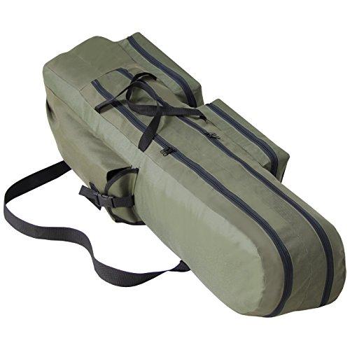 XXL Rutentasche Angeltasche Angelkoffer 2 Fächer 160cm Rute Tasche Angel NEU