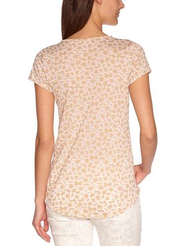 Freesoul Damen T-Shirt P71321 Hemdbluse, Asymmetrisch Regular Fit Beige (Warm  Sand)