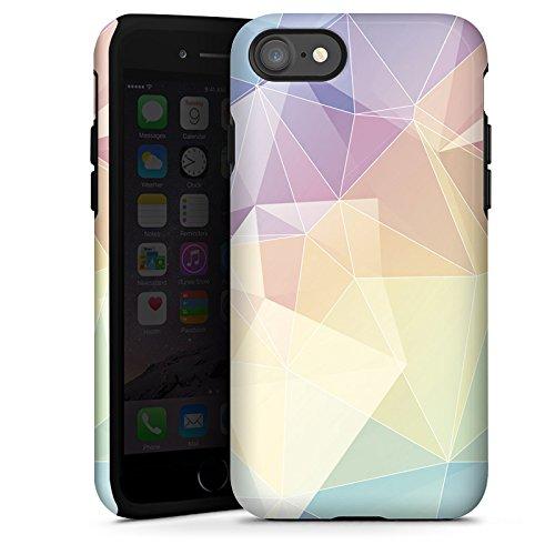 Apple iPhone X Silikon Hülle Case Schutzhülle Pastell Muster Modern Tough Case glänzend