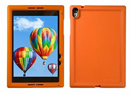 Bobj Silikon-Hulle Heavy Duty Tasche fur Nexus 9 Tablette - BobjGear Schutzhulle (Orange)