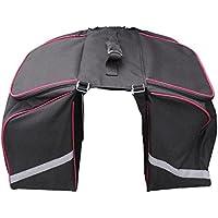 Filmer 46353 Double sacoche pour vélo Avec bandes réfléchissantes Noir