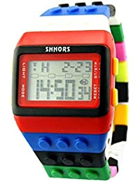 Oyedens - Orologio da polso digitale Unisex per donne, uomini e bambini, cinturino multicolore, Bambino, D