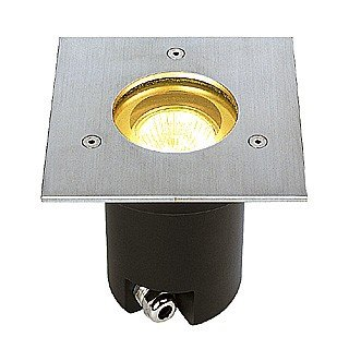 SLV Adjust GU10 Einbaustrahler, eckig, Edelstahl 304, maximal 35 W, IP67 228214 -