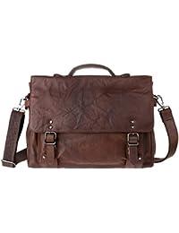 3bdfea568a Mens Real Leather Messenger Laptop Bag Shoulder Briefcase Satchel bag for  Office DUDU Brown