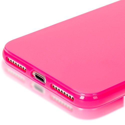 iPhone 8 Plus / 7 Plus Coque Silicone de NICA, Ultra-Fine Housse Protection Cover Slim Premium Etui, Mince Telephone Portable Gel Case Bumper Souple pour Apple iPhone 7 Plus / 8 Plus - Jaune Pink Rose
