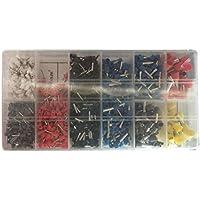 Moliies Conectores aislados de cableado eléctrico Surtidos de 1200 Piezas Terminales de engaste Juegos de Kits