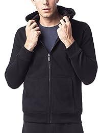 LAPASA Sweat à Capuche Homme Zippé Veste Sweat Shirt Doublure en Laine Polaire Molleton - Noir Gris Chaud et Respirant M20