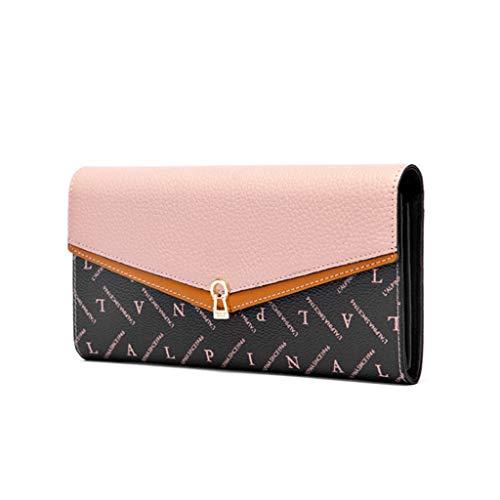 Dream Tissa Damen Geldbörse mit großem Fassungsvermögen (Color : Pink, Size : 19 * 10 * 3)