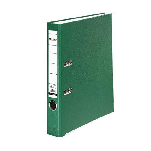 Falken PP-Color Kunststoff-Ordner 5 cm schmal DIN A4 grün Ringordner Aktenordner Briefordner Büroordner Plastikordner Schlitzordner