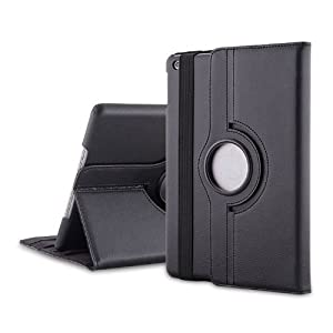 MOFRED® Black New Apple 9.7″ 2017,2018 & 2019 Case-MOFRED®-360 Degree Rotating Standby Case for Apple iPad 9.7-2017 & 2018 with Built-in magnet for Sleep & Awake Feature