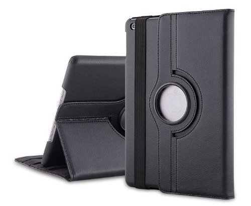 MOFRED® Black New Apple 9.7″ 2017 & 2018 Case-MOFRED®-360 Degree Rotating Standby Case for Apple iPad 9.7-2017 & 2018 with Built-in magnet for Sleep & Awake Feature