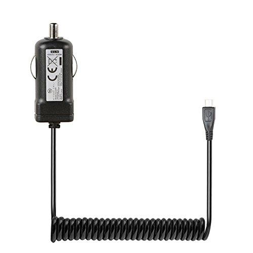Wicked Chili microUSB KFZ Ladekabel für Samsung, Huawei, Sony, Nokia, Blackberry, HTC, LG, Motorola, Handy, Tablet (Spiralkabel, 30 bis 50 cm, 1,000mA, LED), Extra Kurz