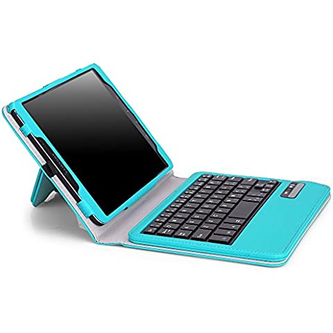 MoKo Wireless Bluetooth Teclado Funda Para Samsung Galaxy Tab S 2 8.0 Tableta, AZUL Claro