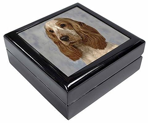 Orange Roan Cocker Spaniel Dog Keepsake/Jewellery Box Christmas Gift