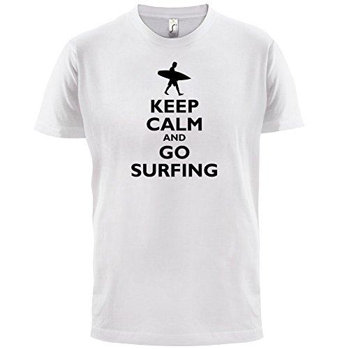 Keep Calm and Go Surfing - Herren T-Shirt - 13 Farben Weiß