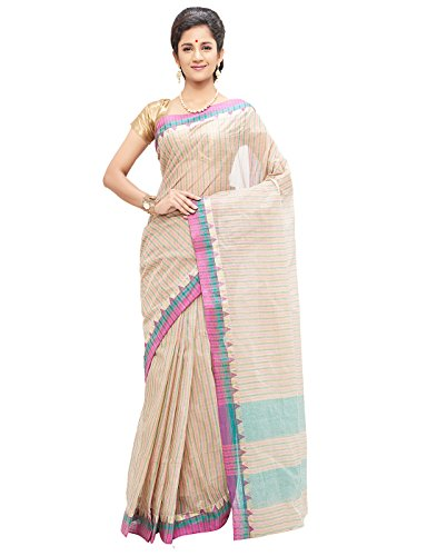 Slice Of Bengal Light Weight Broad Border Cotton Handloom Taant Tangail Saree-101001001079