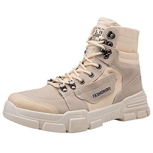 MISSQQScarpe da Ginnastica Moda Uomo Sneakers Sportive Casual Scarpe Calde Invernali Stivali da Neve con Pelliccia