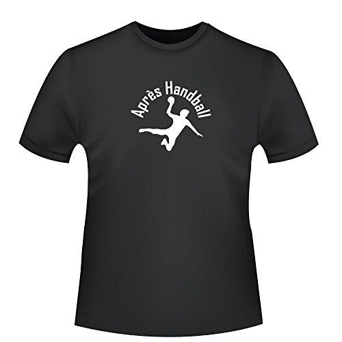 Aprés Handball - Handballer, Herren T-Shirt - Fairtrade - ID103601 Schwarz