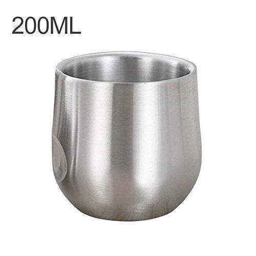 arvin87lyly Edelstahl Becher Kaffee Tasse Wasser Isolierung Tee Tasse Milch Tee Anti dank hoher Temperaturbeständigkeit Double Layer Büro Haushalt
