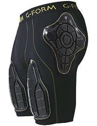 G Forma de Crash Short, color negro, tamaño small