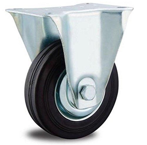 EXCOLO Rolle Transportrollen Vollgummi Reifen 200mm Gummi schwarz Kugellager (Bockrolle 200 mm)