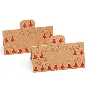 GiviItalia 41309 8 Kraft - Manteles de papel (10 x 5 cm), color rojo