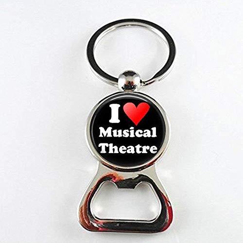 Musical Theater Flaschenöffner – I Love Musical Theater, Broadway Musical Musicals, Schauspielkunst, Glas, Foto-Schmuck, personalisiertes Geschenk