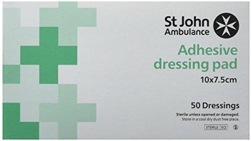 st-john-ambulance-10-cm-x-75-cm-large-sterile-adhesive-dressing-pad-pack-of-50