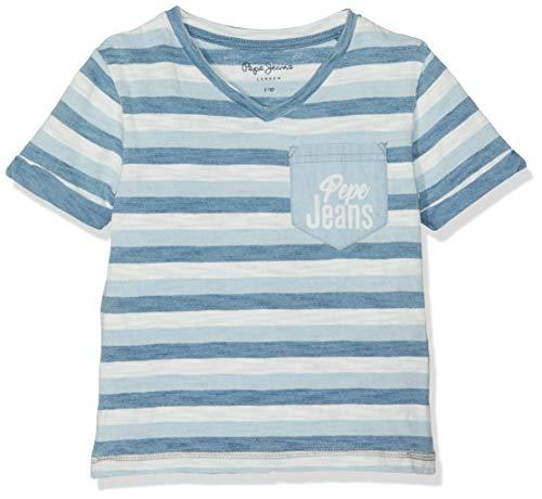 Pepe Jeans Jungen Roman T-Shirt, Mehrfarbig (Multi 0Aa), 9-10 Jahre (Herstellergröße: 10) - Jeans-jungen-shirt