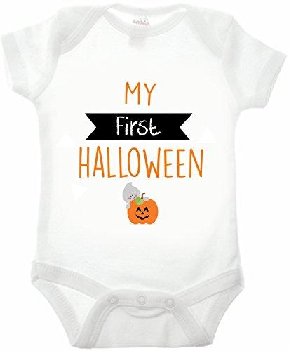 Bullshirt 's First Halloween Short Sleeve Weiß Strampler weiß weiß 18-24 Monate (Mutter Neugeborenen Halloween Kostüme)