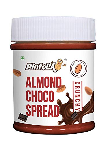 Roasted Almond Choco Butter, Spread (Crunchy) 200gm (7.05 OZ) By Pintola
