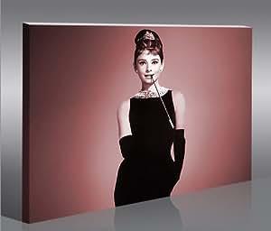 Audrey Hepburn v2 1p * Tableau sur Toile Poster Tableaux Images Impression Artistique