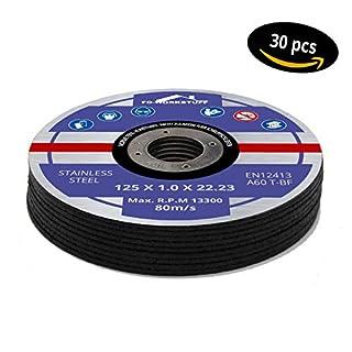 30 Trennscheiben Ø 125 mm x 1.0mm für Winkelschleifer Stahl Edelstahl Flexscheibe Inox Metall