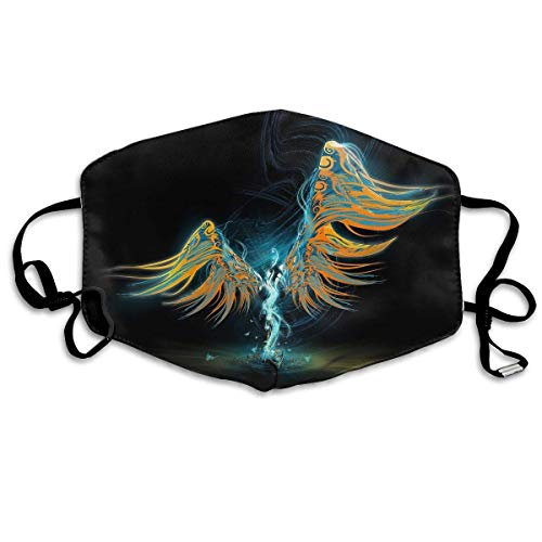 Masken, Masken für Erwachsene, Unisex Unique Mouth Mask, Angel Wings Light Graphics Polyester Anti-dust Masks - Fashion Washed Reusable Face Mask for Outdoor Cycling (Kostüme Angel Wing)