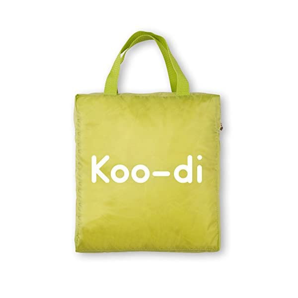 Koo-di 80 x 50 x 58 cm Pop Up Travel Bassinette (Lime/ Lemon)  A comfortable bassinette ideal for use at home and on holidays or weekends away A polycotton travel bassinette Ideal up to 6 months or until baby can sit unaided 4