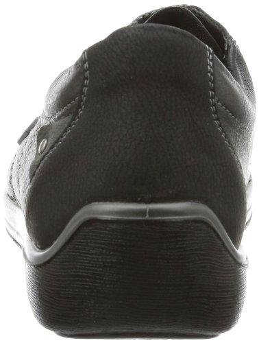 Rieker 50920, Scarpe stringate donna nero (Schwarz (schwarz/schwarz/cenere 01))