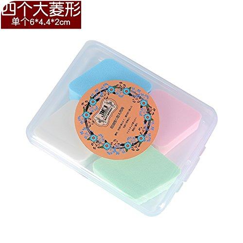 ShouYu Gruppe von 2 nass oder trocken Make-up Powder Puff Schwamm zu reinigen, waschen Sie Ihr Gesicht mit einem E020 boxed Make-up Baumwolle weiche, zarte Gesichts Topologie, vier große Diamant (Das Waschen Täglich Sie Gesicht Reinigen)