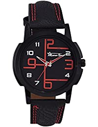 Roman Star RS030 Midnight Black Coloured With Black Leather Strap Quartz Watch For Men