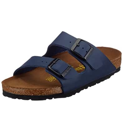 Birkenstock Unisex Adults' Arizona Sandals, BLAU, 2.5 UK Slim